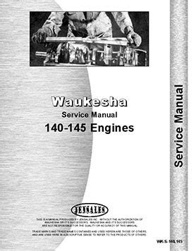 Waukesha 145-GK, GKB, GS, GZ, GZB Engine Service Manual