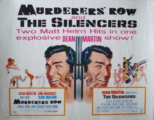 Murderers' Row / The Silencers US half sheet movie poster (1967). Art by Robert McGinnis