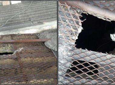 Alagoinhas: Doze presos serram grades de teto e fogem de carceragem