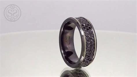 Custom Black Diamond Men's Wedding Band   YouTube