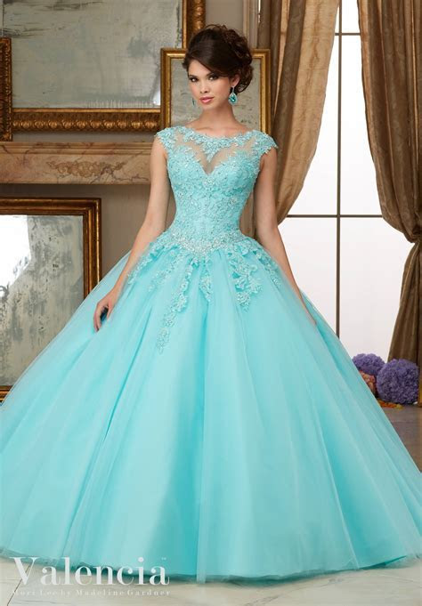 Tulle Ball Gown Quinceanera Dress   Style 60006   Morilee