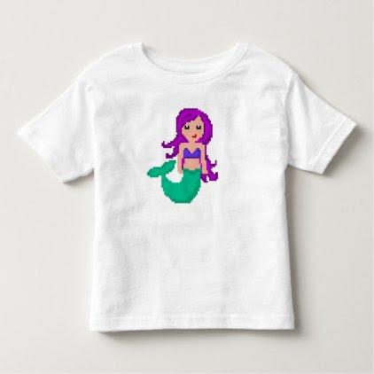 8Bit Pixel Geek Mermaid Custom Toddler T-shirt