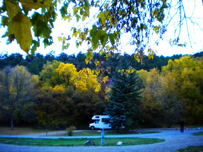 Our campsite, Rifle Falls State Park, Rifle, CO
