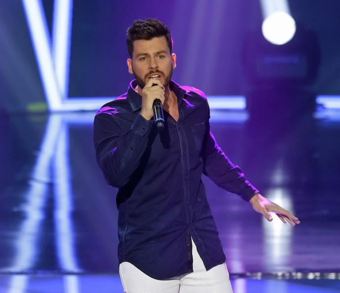 Gabriel Correa deixou o The Voice na penúltima fase (Foto: Artur Meninea/Gshow)