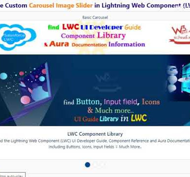 Lightning Web Component Create a Custom Carousel Image Slider as responsive design & auto changed control by Stop/Play button in Salesforce LWC