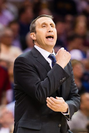 David Blatt settles down his classroom. (Jason Miller/Getty Images)