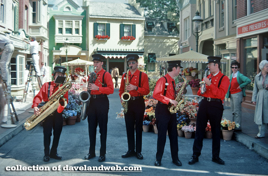 Disneyland Firehouse Five vintage photo at East Center Street, March 1981