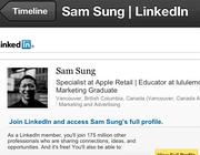 Il profilo su Linkedin