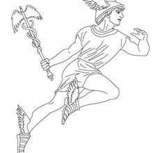 Dibujos Para Colorear Dios Hermes Mensajero De Los Dioses Griegos