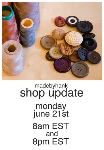 shop update this monday
