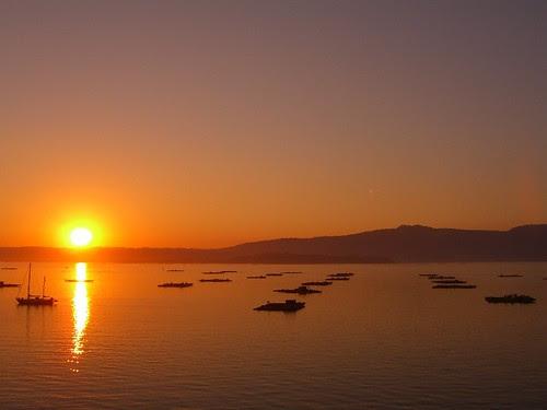 Puesta de sol en la Isla de Arousa (Pontevedra)
