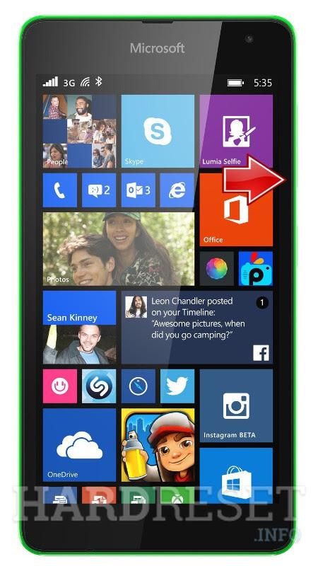 Reset MICROSOFT Lumia 535