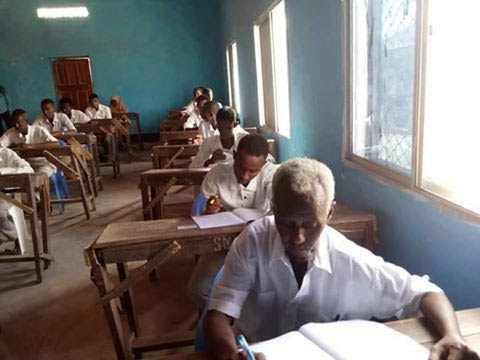 60-Year-Old Father Writing SSCE In Somalia