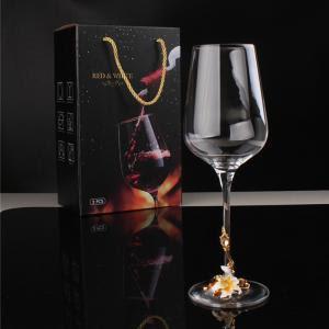 Giant Glass Wine Glass 400ml Gold Stem Goblet Crystal Wine Glass For