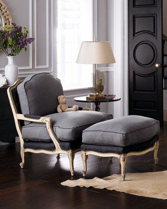 beautiful chair & ottoman