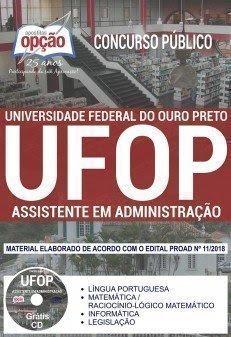 Apostila Concurso UFOP 2018 | ASSISTENTE EM ADMINISTRAÇÃO