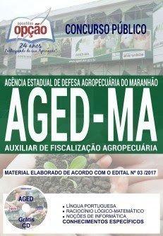Apostila Concurso AGED 2018 | AUXILIAR DE FISCALIZAÇÃO AGROPECUÁRIA