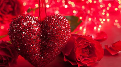 full hd wallpaper valentines day glitter heart rose