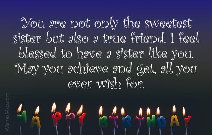 Sister Birthday Wishes Birthday Messages For Sister Wishesmsg