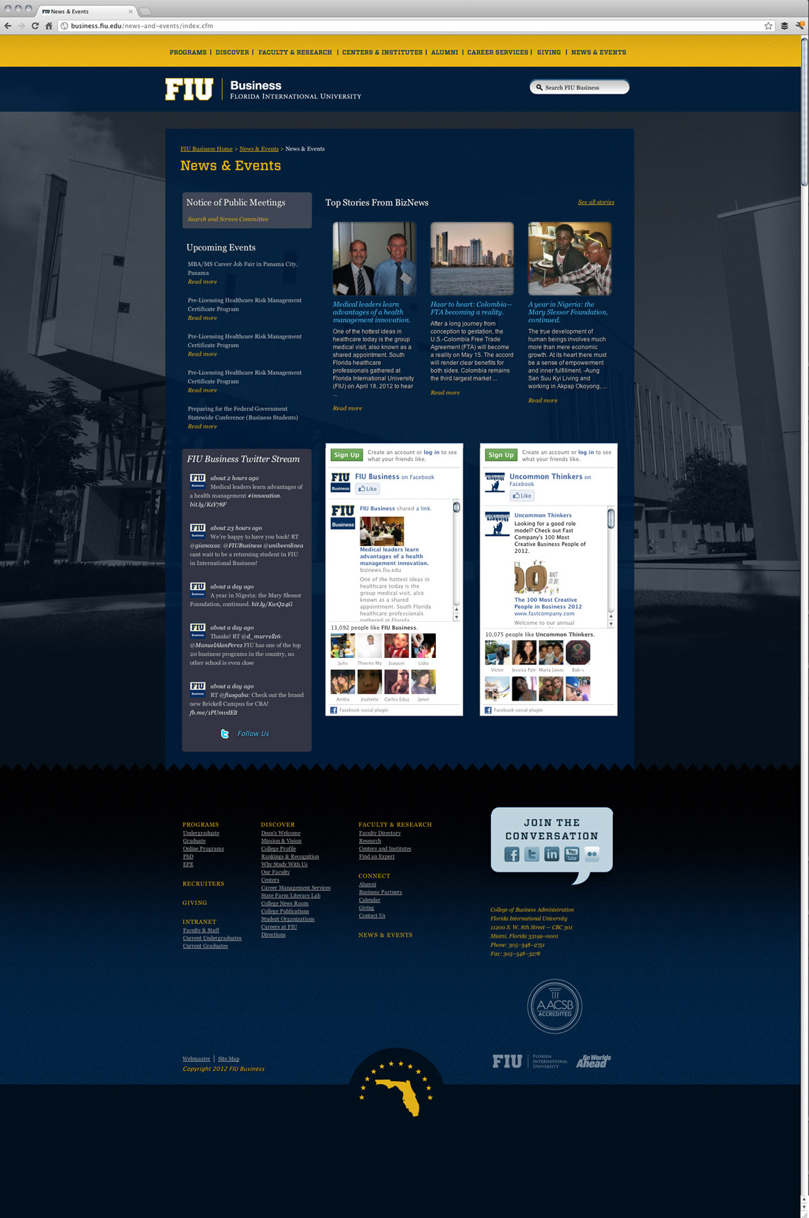 FIU Business Website Design by Go Media