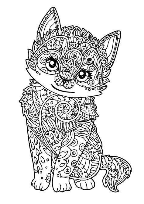 cat  kids  kitten cats kids coloring pages