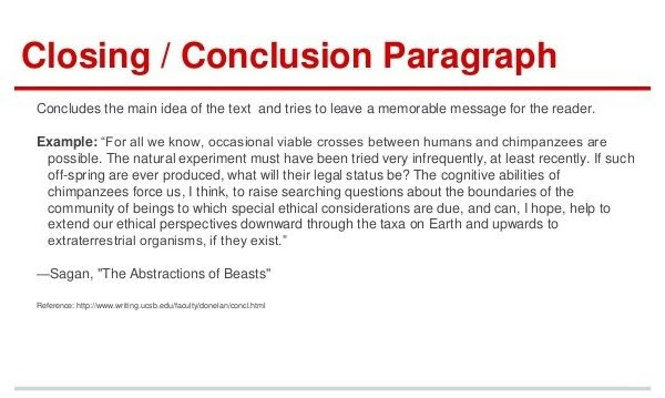 how to write a conclusion to an essay theory