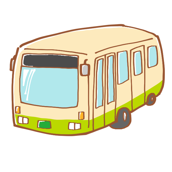 公共のバスのイラスト かわいいフリー素材が無料のイラストレイン