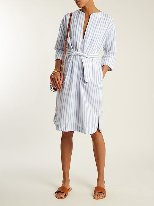 Le Fashion Blog Vacation Must Have Cabana Striped Cotton Blend Dress Via Matches Fashion