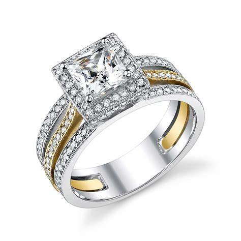 Two tone #Engagement ring    I LOVE THE 2 TONE SETS. Even