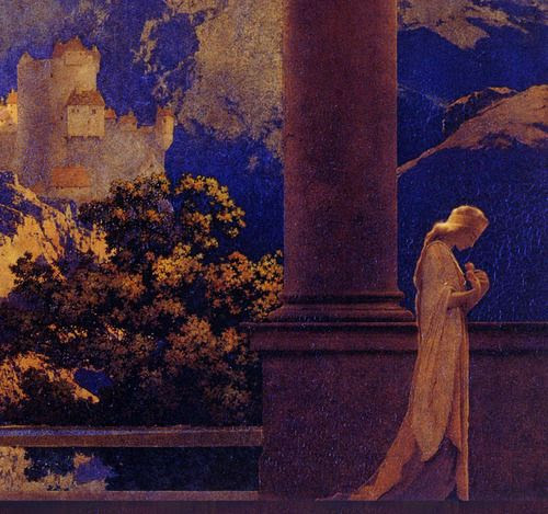ponderful:    Maxfield Parrish, Romance, detail. 1922. Oil on board.