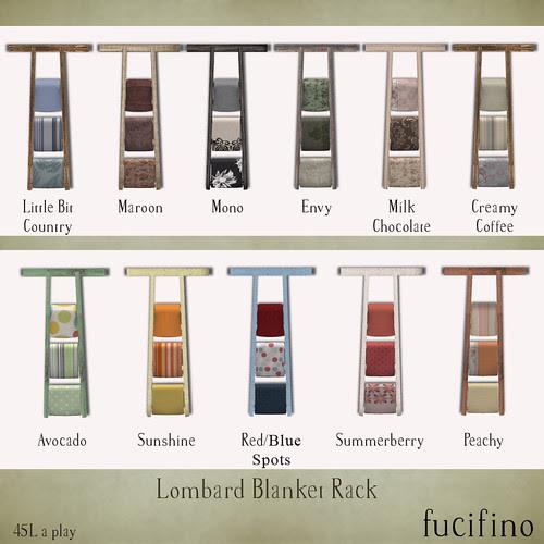 fucifino.Lombard Blanket Racks for The Nest Labor Day Sidewalk Sale & Gatcha Event