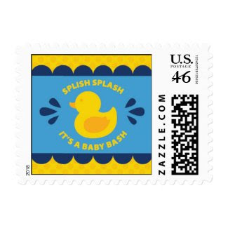 Rubber Ducky Baby Shower Postage zazzle_stamp