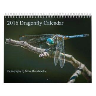 2016 Dragonfly Calendar by Steve Borichevsky