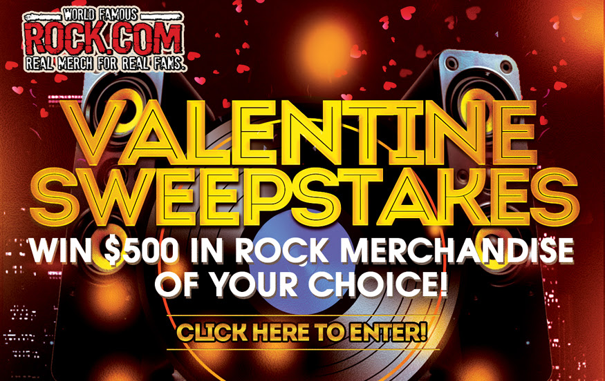 Rock.com Official Sweepstakes of Rock Music. Ends 2/14
