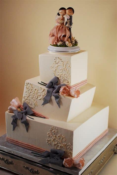 Whimsical and Wonky Rectangular Wedding Cake   A Wedding