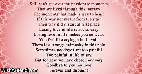 Still Cant Get Over This My Love Goodbye Love Poem