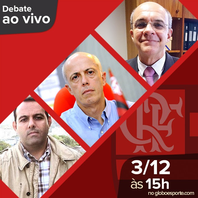 Cartela debate eleições Flamengo  (Foto: Editoria de arte)
