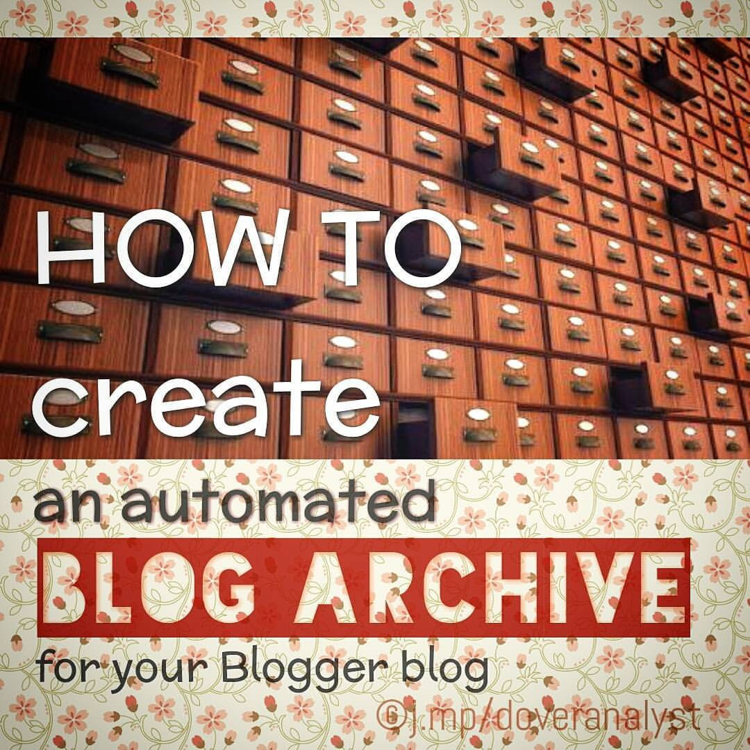 Create blogger blog archive page on top with post names and date