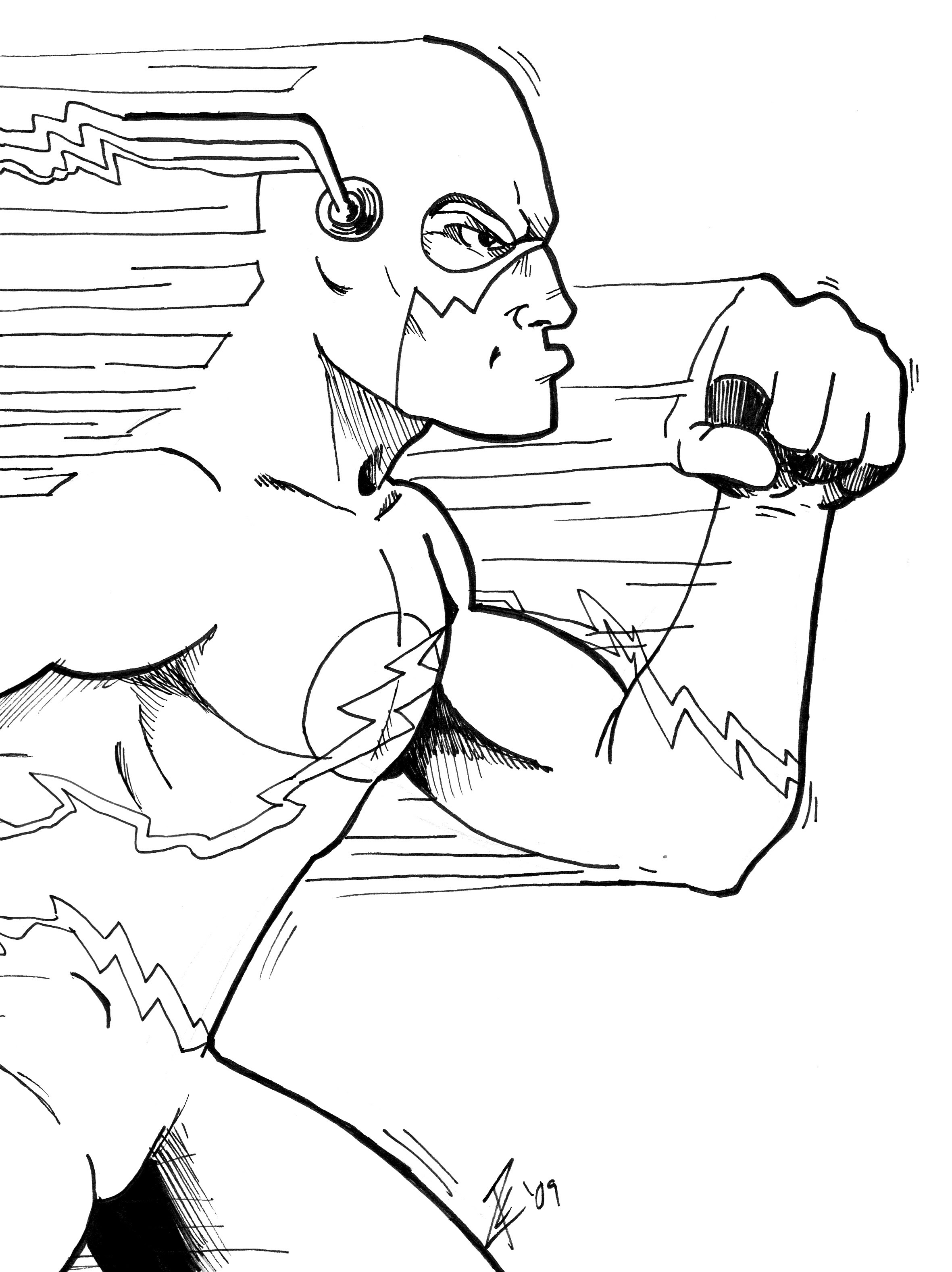 Dc Comics Flash Coloring Pages Download And Print For Free Coloring Pages