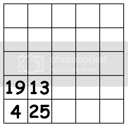 5 by 5 grid Puzzle 1