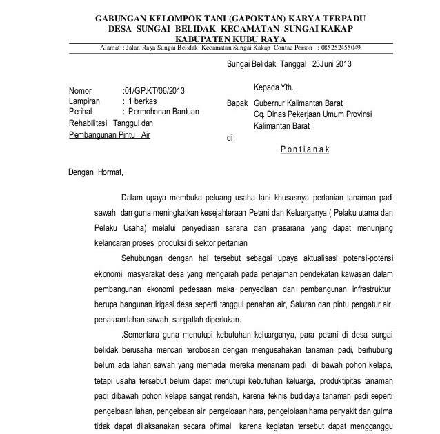 Contoh Proposal Normalisasi Sungai Word Guru Ilmu Sosial