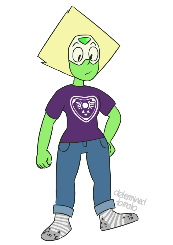 my icon(peridot) in my clothes for @spadefish