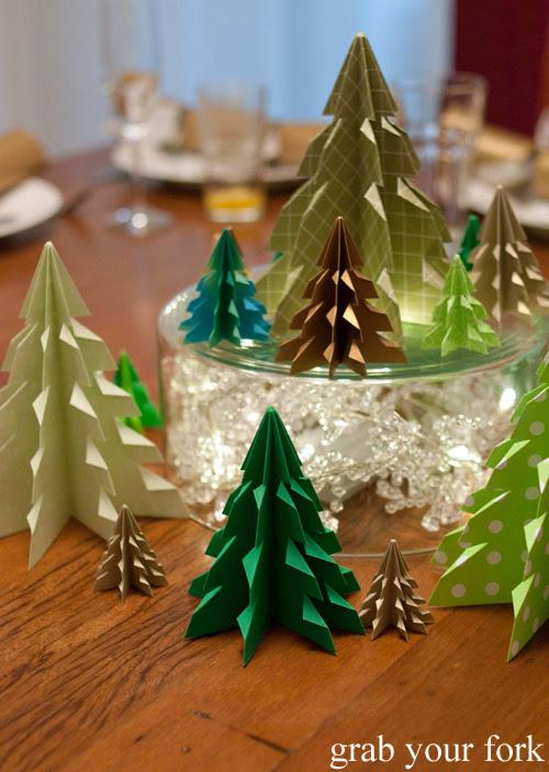 Origami Christmas trees