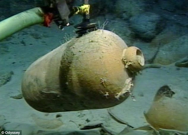 Delicate: Cutting-edge technology was used to retrieve the valuable treasures from the seabed