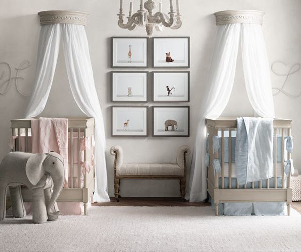 35 Cute Twin Nursery With Warm Colors | HomeMydesign