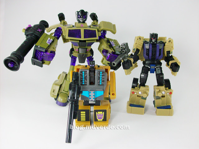 Transformers Munitioner FansProject - modo robot vs Swindle Animated vs. Swindle G1