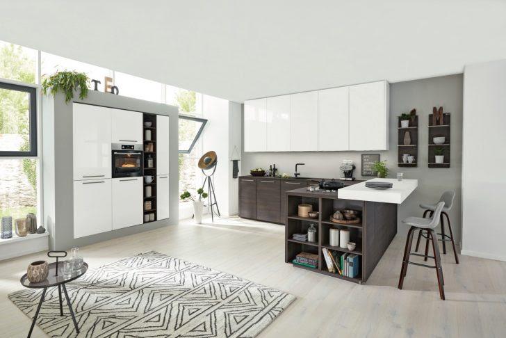 Küche Mit Kochinsel Und Theke Holz Pinterest Halboffene ...