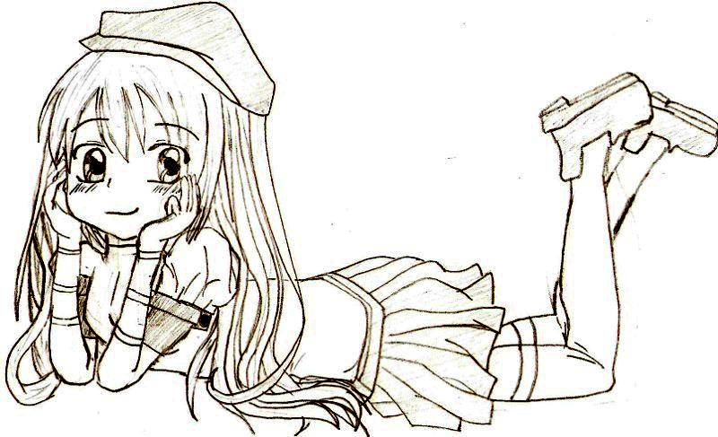 Personnage Manga Fille Dessin Facile