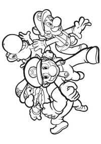Disegni Da Colorare Di Super Mario Galaxy Super Mario Bros