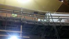 Edge of the new Allen balcony
